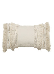 Bloomingville Cushion - blanc - L60xW40 - Bloomingville