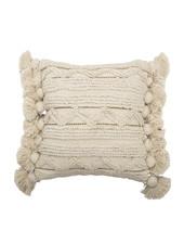 Bloomingville Coussin en coton - blanc - L40xW40 - Bloomingville