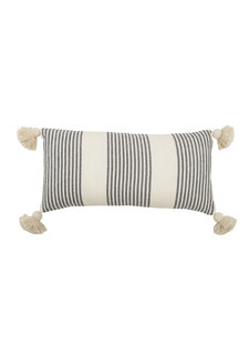 Bloomingville Cushion - grey - L70xW35 - Bloomingville