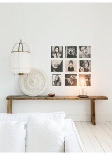 Harmonieuse Maison d'architecte danoise avec des meubles anciens et vintage