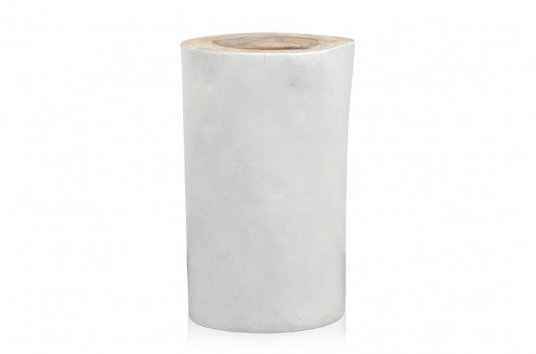 Petite Lily Interiors Table Basse / tabourete Arbre - 27xh45cm - bois blanc