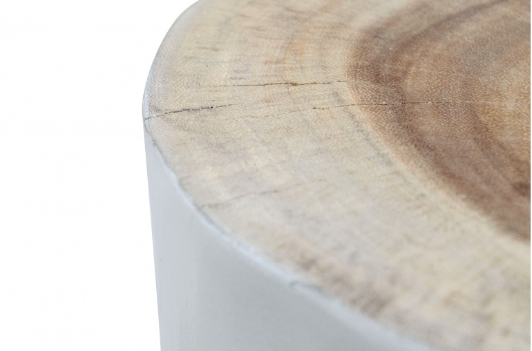 Petite Lily Interiors Tree table / stool - white wood - 27xh45cm