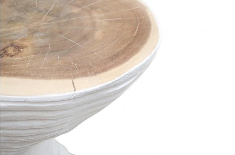 Petite Lily Interiors Table à café  Arbre - 41,5x36xh70cm - bois blanc