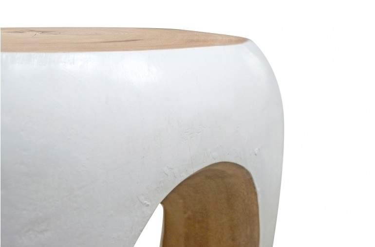 Petite Lily Interiors Tree table / side table - white wood - 40xh54.5cm