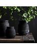Tell me more Black Flowerpot clay - Ø15xH26cm - Tell Me More