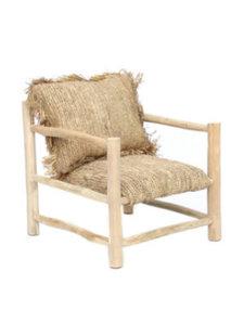 Bazar Bizar The Raffia One Seater - Natural - Teak