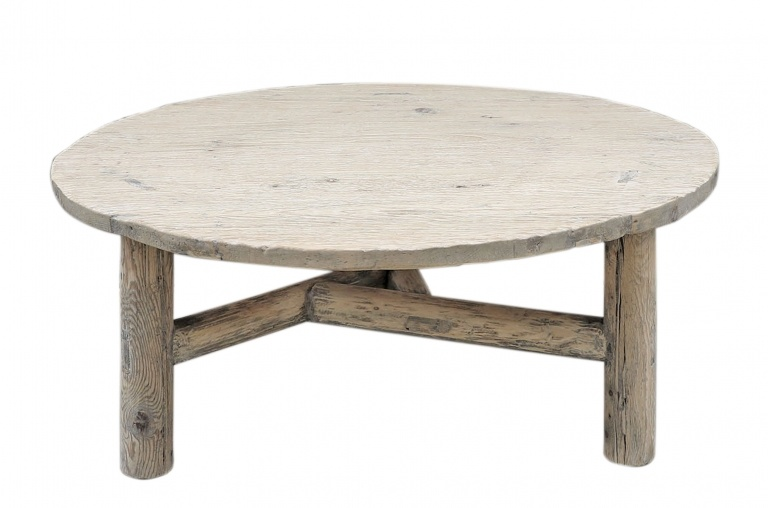 Petite Lily Interiors Natural coffee table rond - 107x108xh45cm - Unique Item