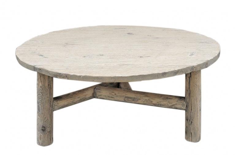 Petite Lily Interiors Table basse bois brut - rond - 107x108xh45cm - Unique Piece
