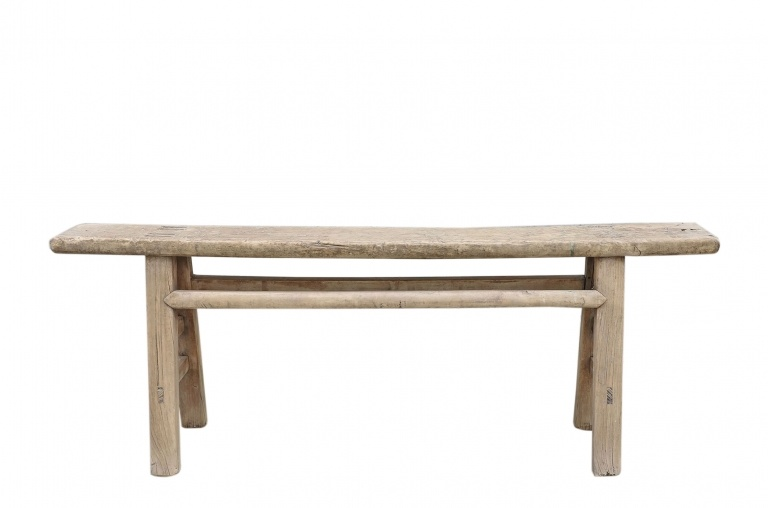 Snowdrops Copenhagen Bench Raw Elm wood - 136x15xh51cm - Unique Product