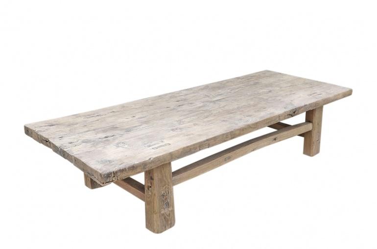 Snowdrops Copenhagen Coffee table Elm Wood - 139x56xh30cm - unique piece