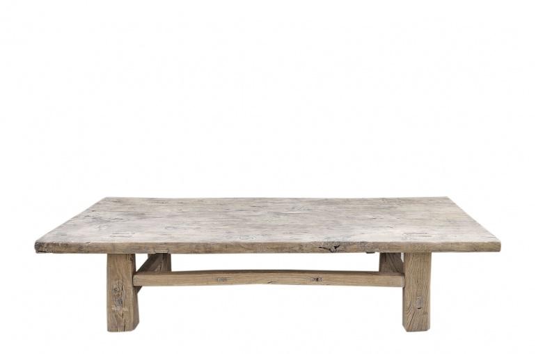 Snowdrops Copenhagen Table basse bois d'orme - 139x56xh30cm - pièce unique