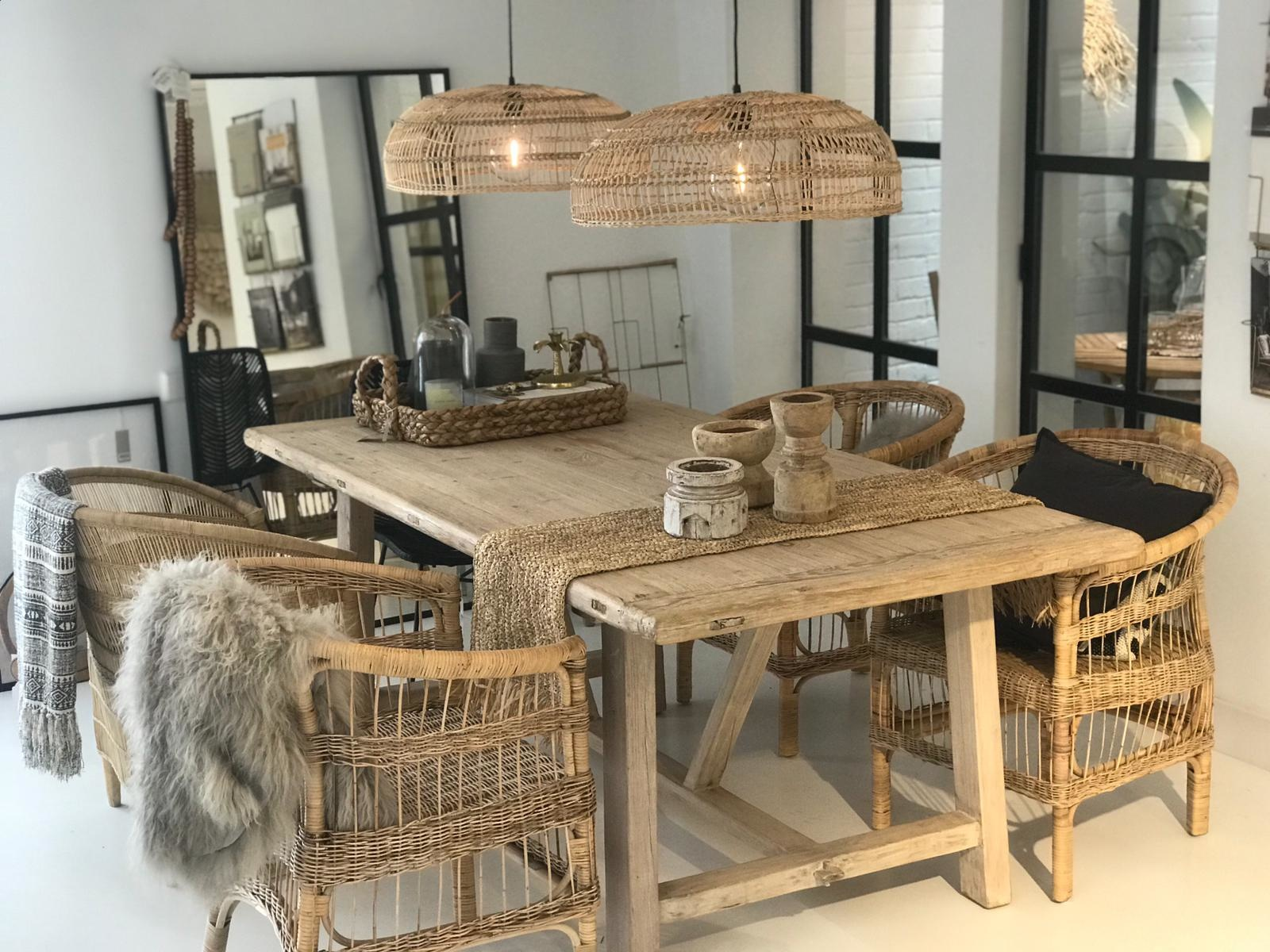Snowdrops Copenhagen Dining room table recycled pine wood - 240x100xh78H - unique item