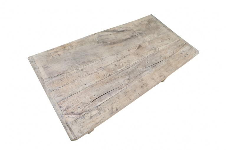 Petite Lily Interiors Table basse bois brut - 118x59xh41cm - Peuplier