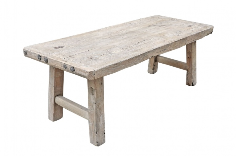 Snowdrops Copenhagen Coffee table Elm Wood - 118x47xh42cm - unique piece
