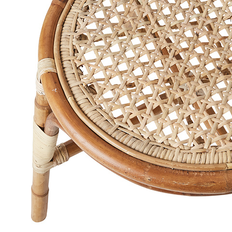 Affari of Sweden Rattan chair RIVIERA - Natural - W45xD55xH46/90 cm
