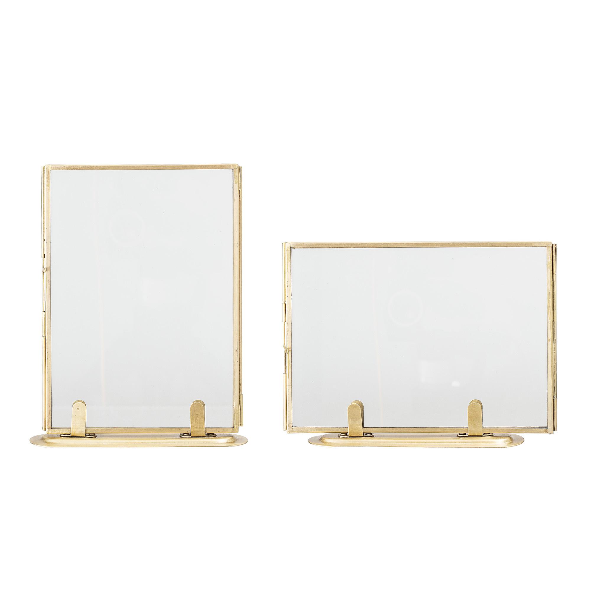 Bloomingville Set de 2 cadres photo - verre et laiton doré  - L14xH18 - Bloomingville