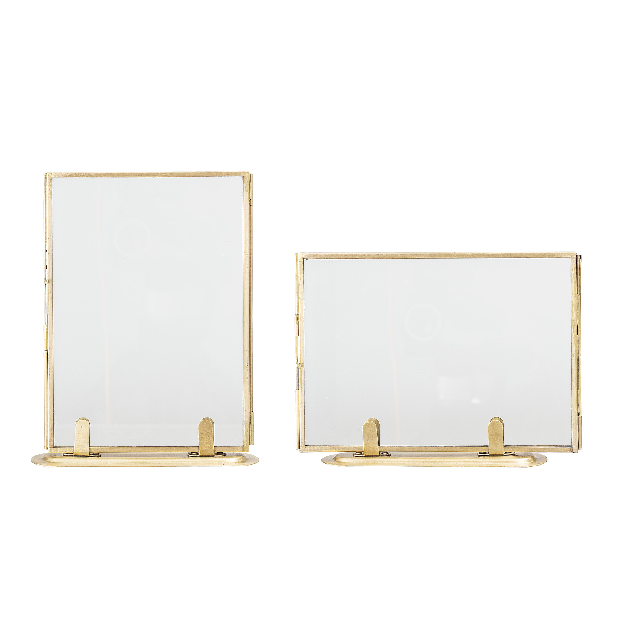 Bloomingville Set of 2 Photo Frames - Brass / Gold - L14xH18 - Bloomingville