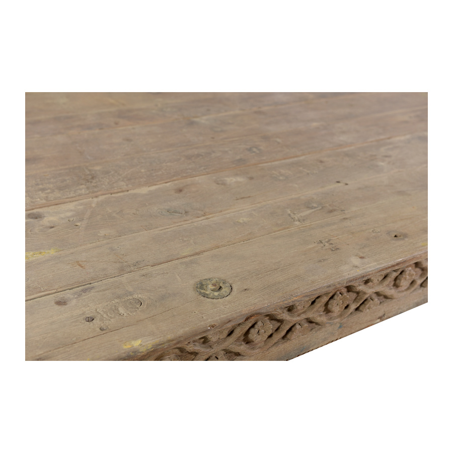 Petite Lily Interiors Table basse indienne en bois - 204x142x40cm - piece unique