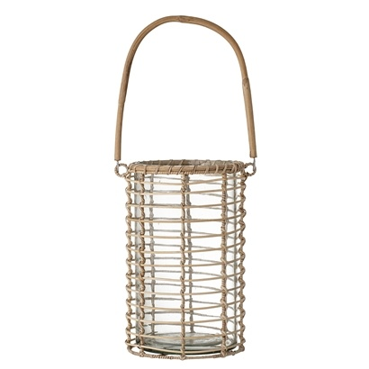 Bloomingville Lantern in wood and glass - Ø16xH26cm - Bloomingville