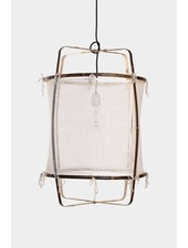 Ay Illuminate Z11 pendant lamp in bamboo and cashmere cover - Ø 48.5cm - white - Ay illuminate