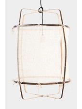 Ay Illuminate Z1 Bamboo pendant lamp with Silk and Cashmere cover - Ø67xh100cm
