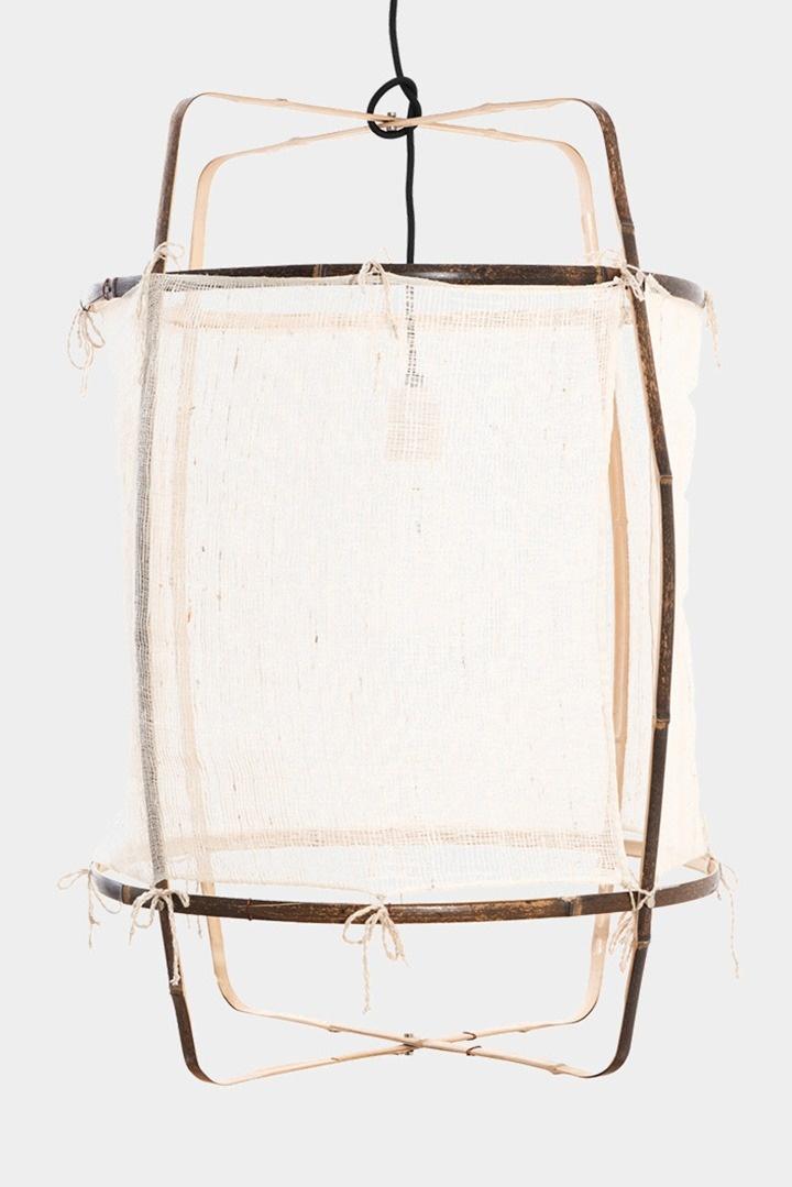 Ay Illuminate Supension en bambou Z1 en soie et cachemire  - blanc - Ø67xh100 CM  - Ay illuminate