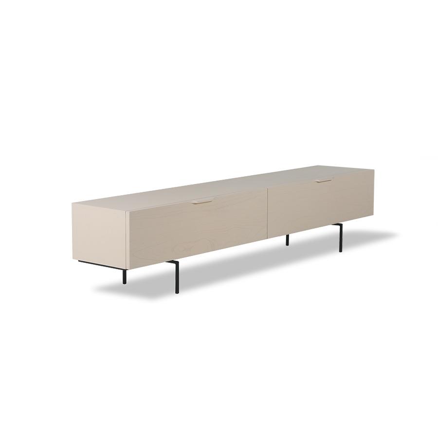 HK Living TV cabinet in wood grain - sand - 167x30xH36cm - HK Living