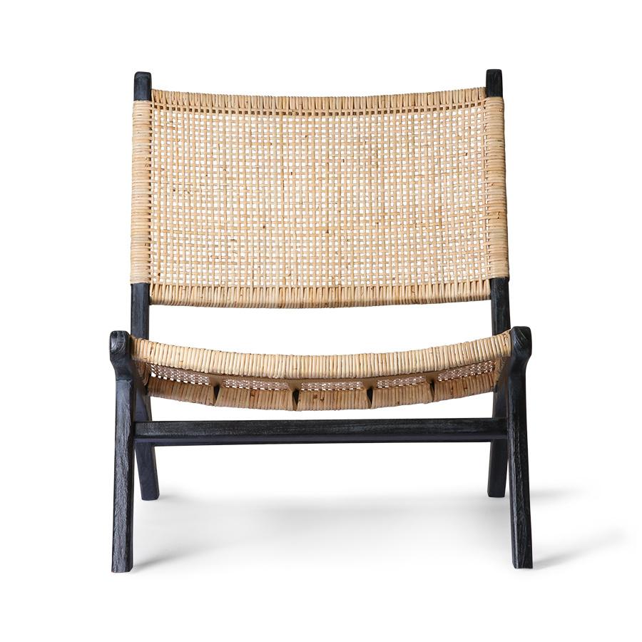HK Living Webbing loung chaire - black natural - 64x75x79cm - HK Living
