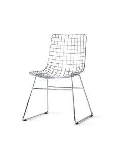 HK Living Metal chair WIRE - Chrome / Grey - HK Living