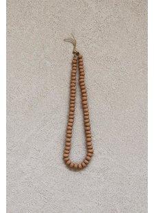 the dharma door  Billes d'argile décoratives - collier de 90cms - TheDharmaDoor