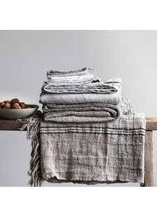 Tell me more Linen bedspread / Throw Alba - Grey - 130x170cm - Tell Me More