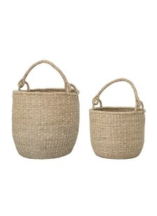 Bloomingville Set of 2 Seagrass baskets - natural - Nordal - Bloomingville