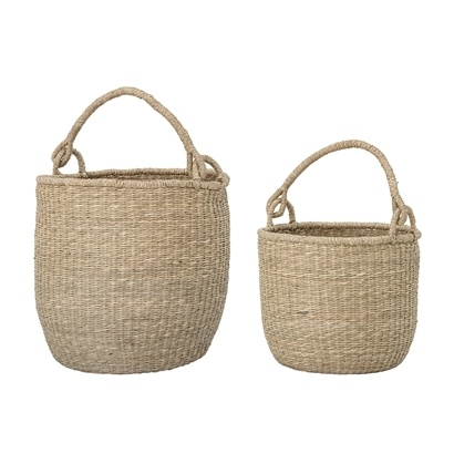 Bloomingville Set of 2 Seagrass baskets - natural - Bloomingville