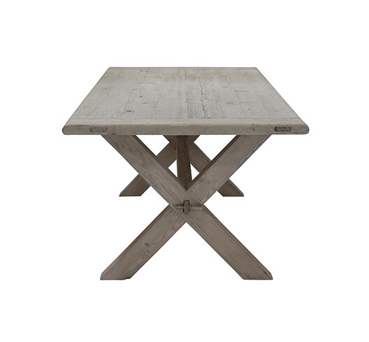 Snowdrops Copenhagen Cross Dining room table recycled wood - 200x100cm - unique piece