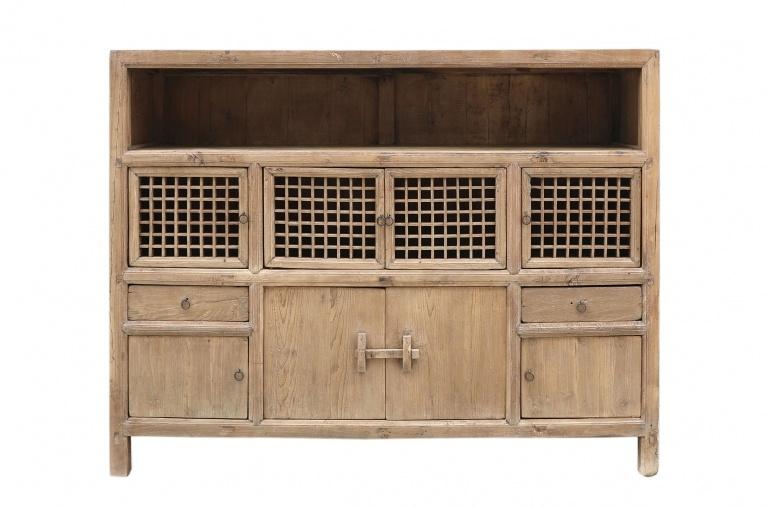 Petite Lily Interiors Cabinet vintage / Raw Wood - L180x45xh140cm - unique piece