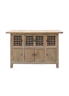 Petite Lily Interiors Cabinet Vintage Bois Brut - L149x45xh94cm - pièce unique