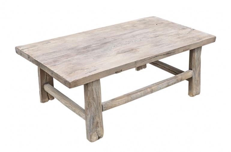 Snowdrops Copenhagen Coffee table vintage Elm Wood - 104x56xh38cm - unique piece