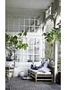 TineKHome Bain de soleil Bambou avec coussin en gris foncé - 210x80xh36cm