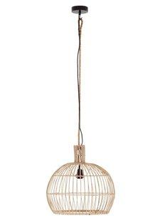 Petite Lily Interiors Rattan pendant lamp - natural - Ø40xH40cm