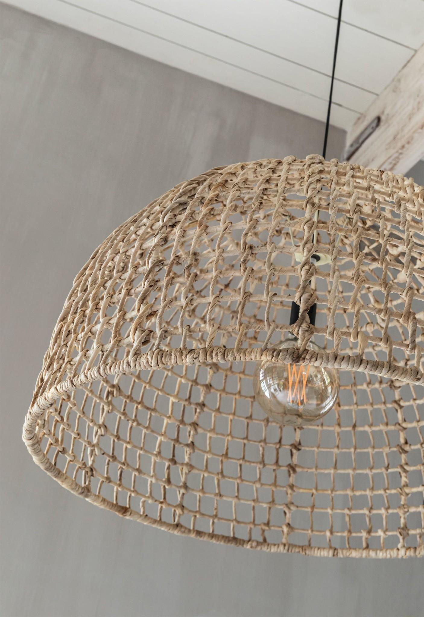 Petite Lily Interiors Rattan pendant lamp - natural - 45xØ72cm