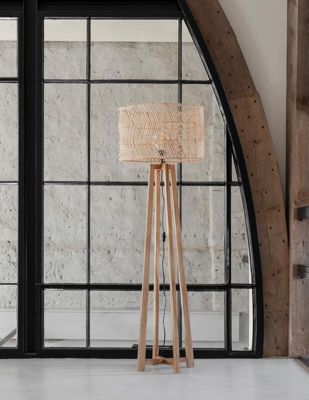 Petite Lily Interiors Floor lamp teak & rattan - natural