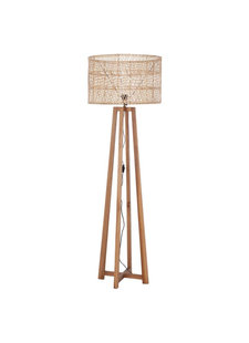 Petite Lily Interiors Floor lamp teak & rattan - natural