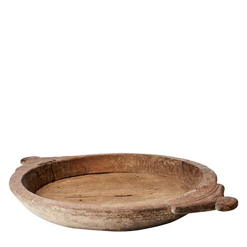 Petite Lily Interiors Bol/plateau indien en bois - L45xH7cm - Unique Piece