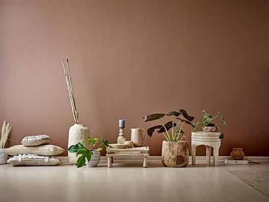 Bloomingville Table/Piédestal indienne en bois - 50x50X20cm - piece unique