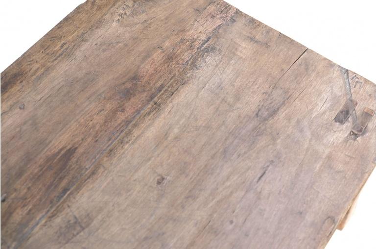 Petite Lily Interiors Chevet vintage en noyer brut / bois brut - 38x39xh51cm - piece unique