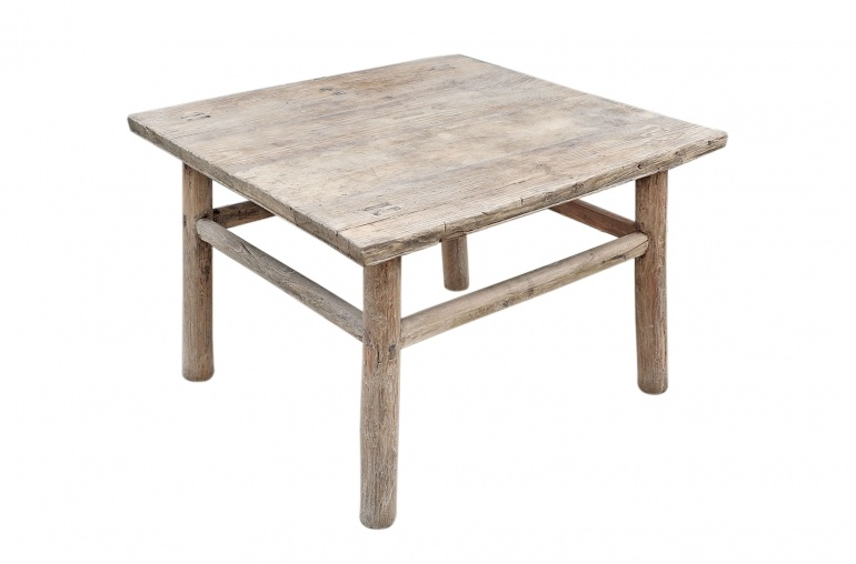 Petite Lily Interiors Coffee table raw Wood - 77x66xh47cm - unique piece