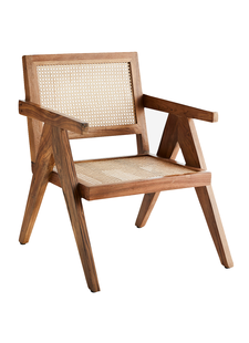 Madam Stoltz Webbing loung chaire - natural - Madam Stoltz