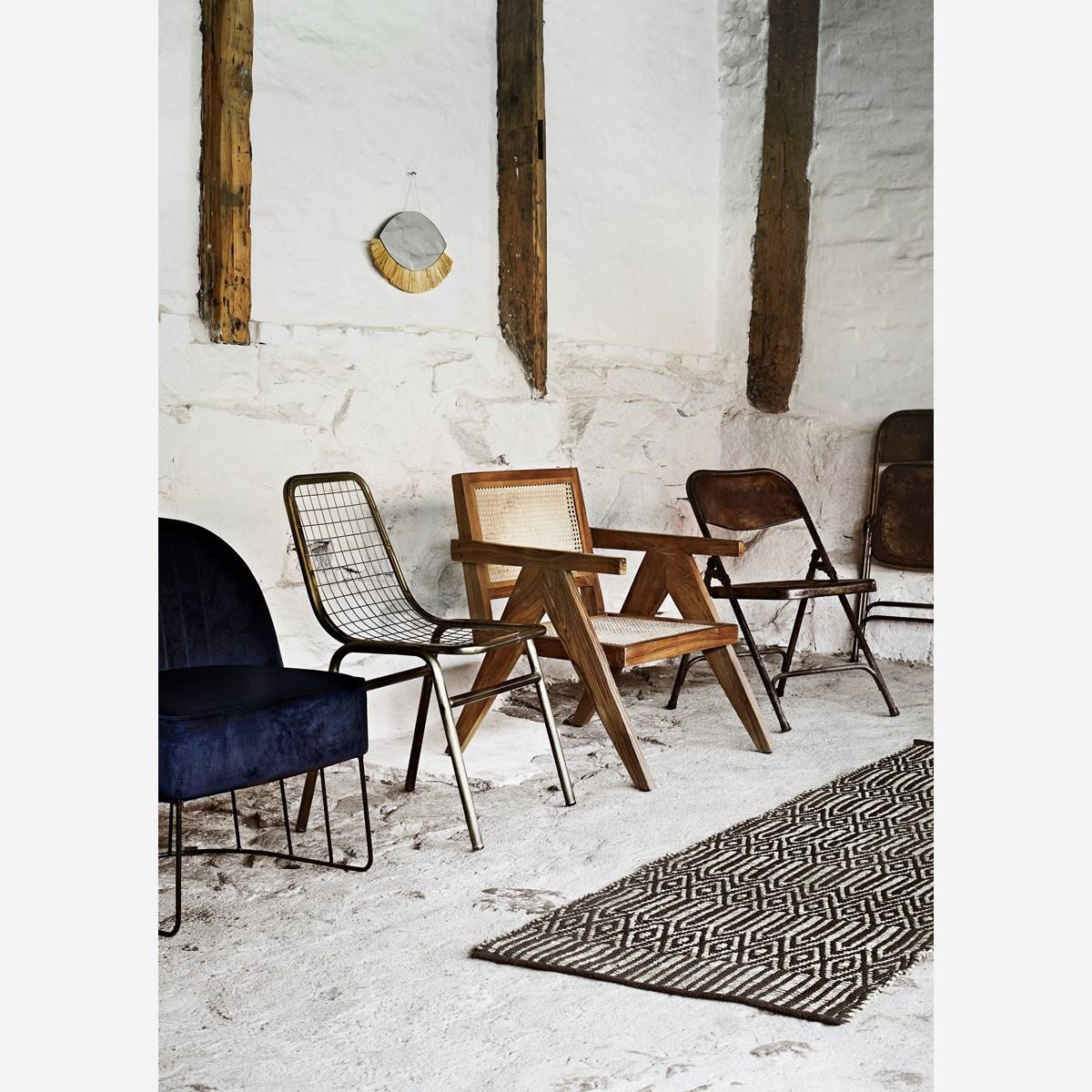 Madam Stoltz Webbing loung chaire - natural - 72x58x77cm - Madam Stoltz
