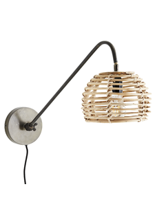 Madam Stoltz Wall lamp in bamboo - 20x26x70cm - Madam Stoltz