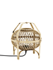 Madam Stoltz Lampe de table bambou - naturel - Ø32x35cm - Madam Stoltz